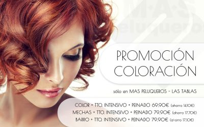 Aprovecha nuestra promoción en coloración